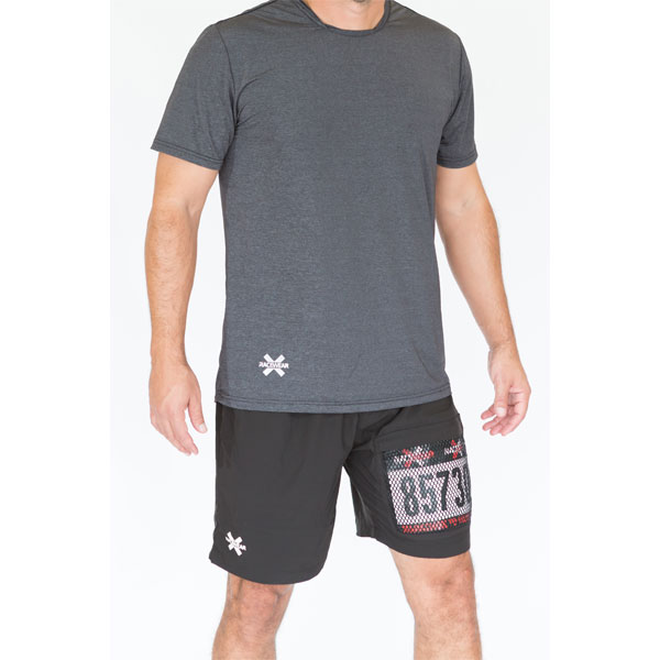 Mens Shorts with Zippered Race Bib Pocket