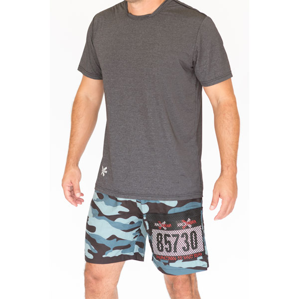 Mens Zipper Short with Race Bib Pocket - Camouflage