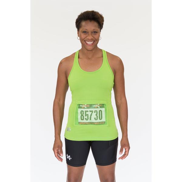 Women's tank top - racerback style - lime green